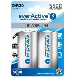2x akumulatorki everActive R20/D Ni-MH 5500 mAh ready to use