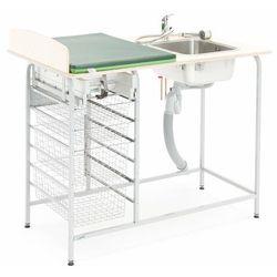 Przewijak FAST, z miejscem do przechowywania, z umywalką, prawy, 1200x800 mm