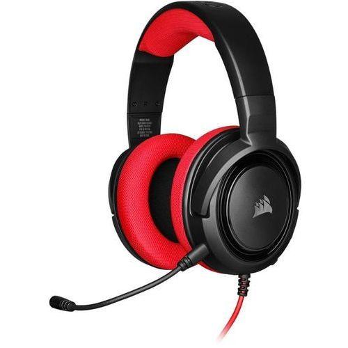 Pozostałe gry i konsole, Corsair Słuchawki HS35 Stereo, czerwone
