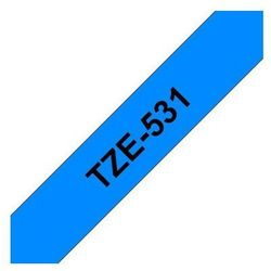 BROTHER Taśmy do drukarek TZ laminowane 12mm x 8m, czarny/niebieski