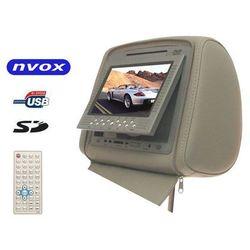 """NVOX JHR7008U GR Zagłówek multimedialny z maskownicą 7"""" cali USB SD AV IR FM Oferta specjalna!"""