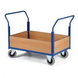 Modułowy wózek platformowy - 2 uchwyty, 4 obniżone ściany pełne