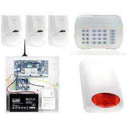 ZA12538 Zestaw alarmowy DSC 3x Czujnik ruchu Manipulator LED Powiadomienie GSM
