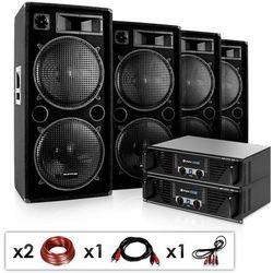 """Electronic-Star DJ PA zestaw """"Phuket Pulsar Pro"""" 2x wzmacniacz 4x kolumna"""