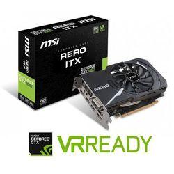 Karta graficzna MSI GeForce GTX 1060 AERO ITX OC 6GB GDDR5 (192 Bit) DVI-D, 2xHDMI, 2xDP, BOX (V328-086R) Darmowy odbiór w 21 miastach!