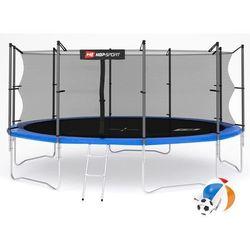 Trampolina 16ft (488cm) z siatką wewnętrzną Hop-Sport - 4 nogi - niebieski \ 16ft (488cm)