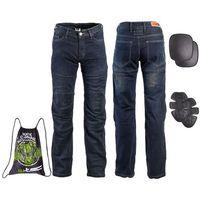 Spodnie motocyklowe męskie, Męskie jeansowe spodnie motocyklowe W-TEC Pawted, Ciemny niebieski, M