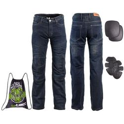 Męskie jeansowe spodnie motocyklowe W-TEC Pawted, Ciemny niebieski, 5XL