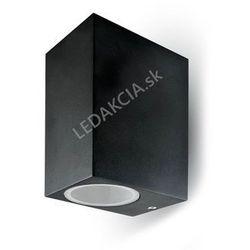 Lampa ścienna LED GU10, czarna, podwójna + Bezpłatna natychmiastowa gwarancja wymiany!