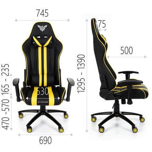 Fotele dla graczy, Fotel Gamingowy G-Racer Optimum Dla Gracza szary