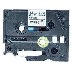 Taśma do nadruku Brother TZER231, 12 mm x 4 m, Kolor taśmy: biały / Kolor nadruku: czarny