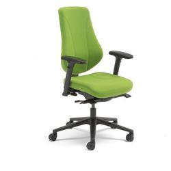 Krzesło biurowe ALFORD, podłokietniki, tkanina, zielony