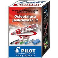 Markery, Markery suchościeralne V BOARD MASTER Pilot 4 kolory + gąbka magnetyczna