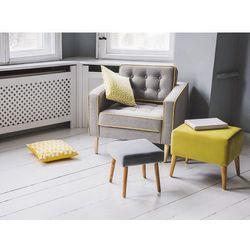 Fotel szary - wypoczynkowy - do salonu - tapicerowany - FLAM