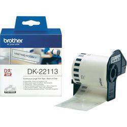 Taśma Brother DK-22113 folia 62mm x 15.24m do drukarki etykiet QL - zamiennik  OSZCZĘDZAJ DO 80% - ZADZWOŃ! 730811399