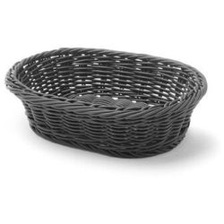 Koszyk na pieczywo owalny, czarny
