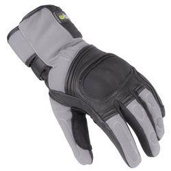 Skórzane/tekstylne rękawice motocyklowe na zimę W-TEC NF-4004, Szaro-czarny, M