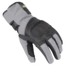 Skórzane/tekstylne rękawice motocyklowe na zimę W-TEC NF-4004, Szaro-czarny, XXL