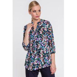 Bluzka o luźnym kroju w wielobarwny wzór kwiatowy - Duet Woman