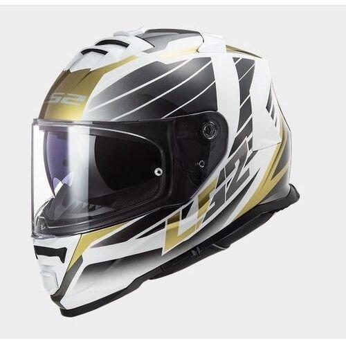 Kaski motocyklowe, KASK LS2 FF800 STORM NERVE WHITE ANTIQUE GOLD
