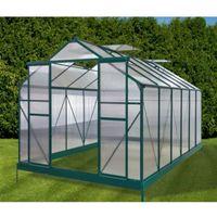 Szklarnie, Przydomowa szklarnia aluminiowa - 10,5 m2 - Zielona - Model GARDEN 2