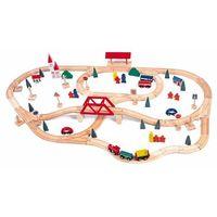 Kolejki i tory dla dzieci, Woody Drewniana kolejka, most i stacja - BEZPŁATNY ODBIÓR: WROCŁAW!