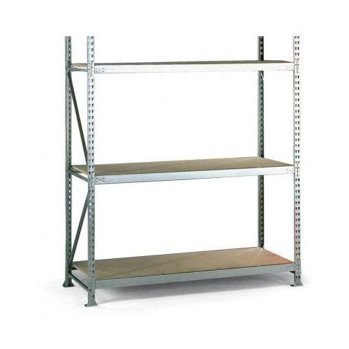 Regały warsztatowe, Regał półkowy, nośność 600 kg,, 2500x1800x1050 mm, podstawowy