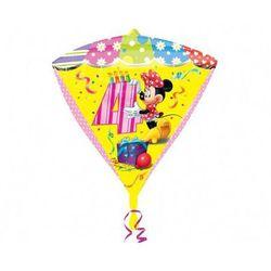 Balon foliowy Diamentowy Myszka Minnie na 4 urodziny - 38x43 cm