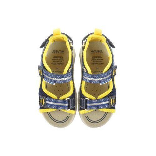Sandałki dziecięce, GEOX B920FA SAND.MULTY 01415 C0657 navy/yellow, sandały dziecięce, rozmiary: 24-27