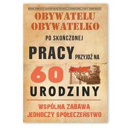 Zaproszenie urodzinowe 60-tka dla obywateli - 1 szt.