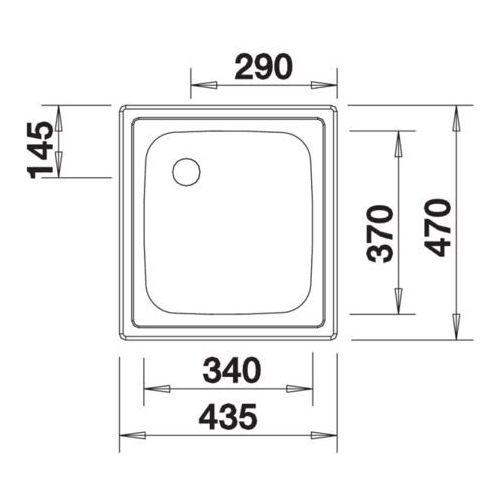 Zlewozmywaki, EE 4x4 Blanco zlewozmywak stalowy - 501065