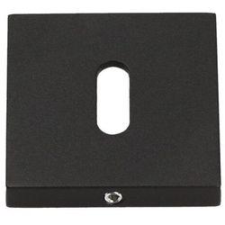 Szyld drzwiowy Gamet Organic dolny na klucz kwadratowy czarny struktura