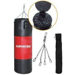 Worek bokserski inSPORTline 50-100 kg - Kolor Czarno-czerwony