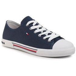 Trampki TOMMY HILFIGER - Low Cut Lace-Up Sneaker T3X4-30692-0890 D Blue 800