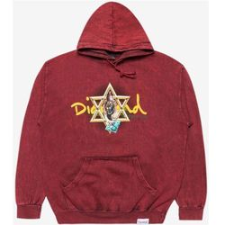 bluza DIAMOND - Star Of David Hoody Mineral Wash Black (BLK) rozmiar: XL