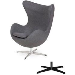 Fotel Jajo EGG CLASSIC - 3 kolory nóżek - wełna - Szary popielaty