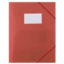 Teczka z gumką A4 z kieszonką czerwona - DONAU OD 24,99zł DARMOWA DOSTAWA KIOSK RUCHU