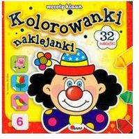 Kolorowanki, Kolorowanki naklejanki 6 Wesoły klaun