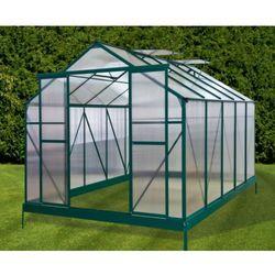 Przydomowa szklarnia aluminiowa - 8,8 m2 - Zielona - Model GARDEN 3
