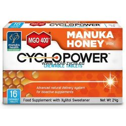 Tabletki do ssania Cyclopower™ z ksylitolem i miodem Manuka MGO™ 400+ (16 tabletek) - Manuka Health