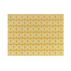 Dywan wewnętrzny lub zewnętrzny GRENADA w stylu etnicznym – 150 × 200 cm – kolor żółty