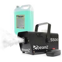 Wytwornice dymu, Beamz S500, wytwornica mgły, z fluidem do wytwarzania mgły, 500 W, 50 m³/min