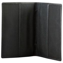 ✅Skórzana Okładka Etui Paszport Biometryczny Ochrona RFID Czarny