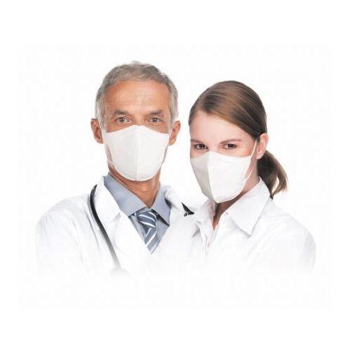Maseczki i przyłbice ochronne, Respimask RespiPro White półmaska przeciwwirusowa norma FFP2, maseczka filtrująca Respilon® z certyfikatem RFU do użytku profesjonalnego