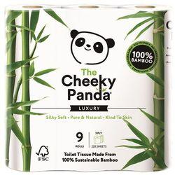 Papier Toaletowy Bambusowy Trzywarstwowy 9 Rolek - Cheeky Panda