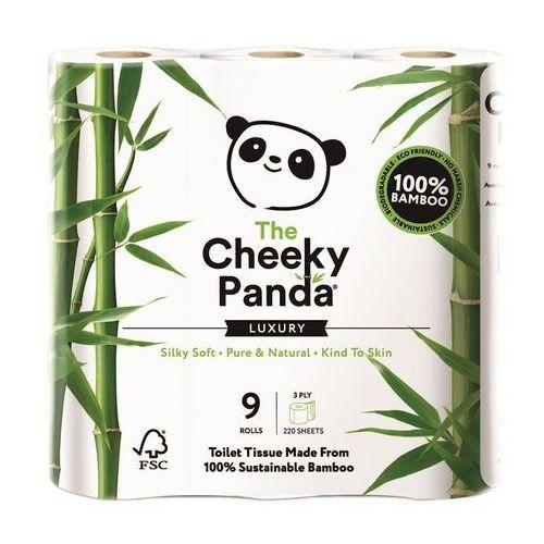 Papier toaletowy, Papier Toaletowy Bambusowy Trzywarstwowy 9 Rolek - Cheeky Panda