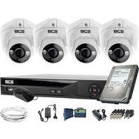 Pozostałe systemy alarmowe, ZM11974 Do rozbudowy monitoring 4 kamery BCS-DMQE1500IR3-B BCS-XVR08014KE-II 1TB