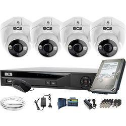 ZM11974 Do rozbudowy monitoring 4 kamery BCS-DMQE1500IR3-B BCS-XVR08014KE-II 1TB
