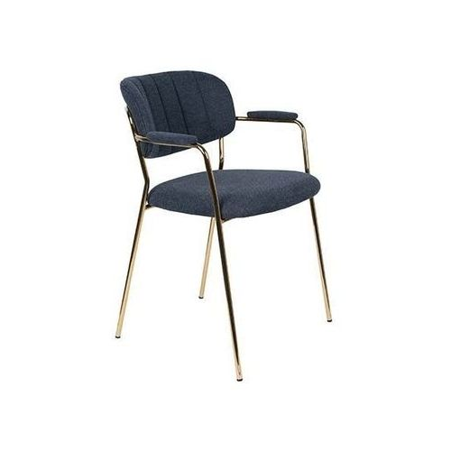 Fotele i krzesła biurowe, Orange Line Fotel JOLIEN złoty/ciemno niebieski 1200223