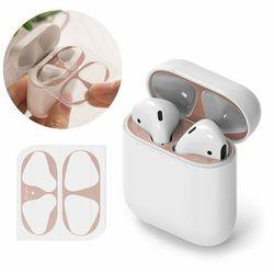 Ringke 2x folia ochronna naklejka osłony przeciw kurzowi do etui bazy słuchawek Apple AirPods 2 / AirPods 1 różowy (ACER0003)